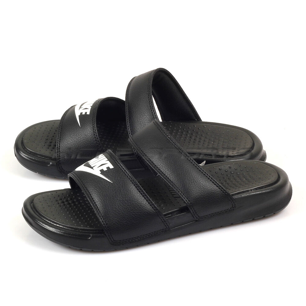 Nike Wmns Benassi Duo Ultra Slide 819717-010 Sandals Sports Slippers Black/White 819717-010 Slide 6ad473