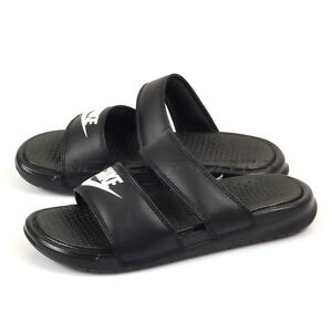 more photos b4401 3f52f Details about Nike Wmns Benassi Duo Ultra Slide Sandals Sports Slippers  Black/White 819717-010