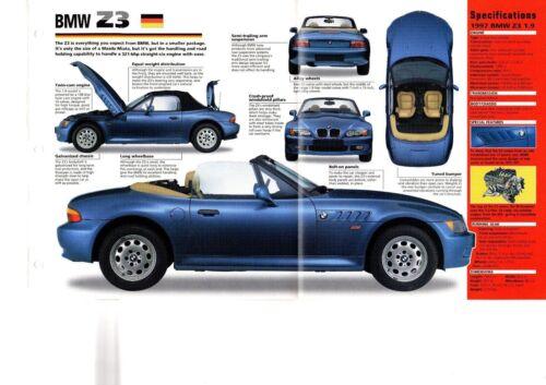 1996//1997 BMW Z3//Z-3  SPEC SHEET//Brochure//Catalog//Flyer