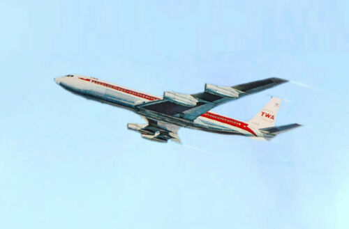CHICAGO Illinois O/'Hare TWA Airlines 707 Boeing 777 Poster Pin Up Art Print 251