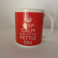 New Keep Calm and Put The Kettle On Mug Carry On Cool Retro Gift Mug Cup