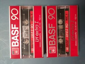 BASF-90-LH-Extra-I-2-x-Cassette-Tapes-SEALED-RARE