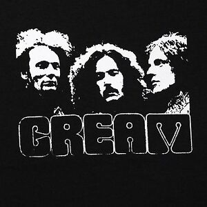 cream band small screen printed t shirt black punk retro ebay
