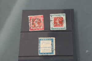 FRANCE - TRIO OF ADVERTISING CINDERELLAS - WITH 2 USED WITH CANCELLED SOWERS