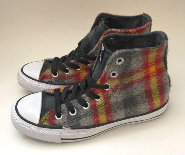 cc278538de5b12 Converse Woolrich Chuck Taylor All Star Sneakers Plaid Wool Mens 3.5 Womens  5.5