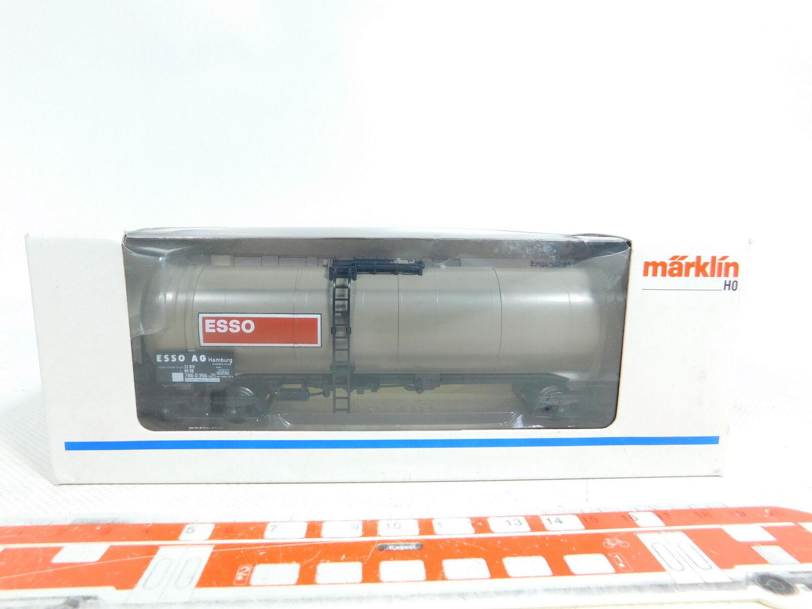 BX627-0,5 Märklin H0   Ac 4754 Vagón Cisterna   de Mercancía Esso Nem Kk Nuevo