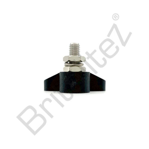 150A Rated Black//Red Automotive//Marine 8mm Power Distribution Post