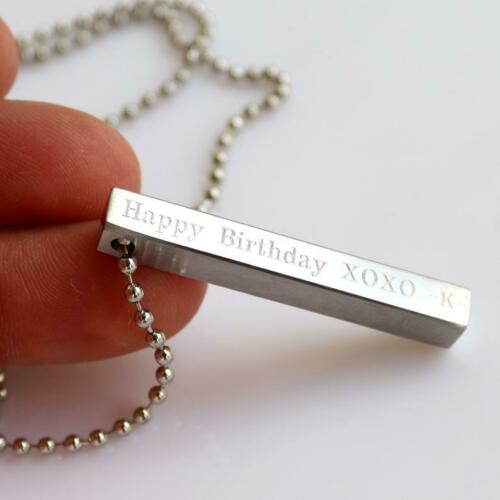 Men/'s Personalized Necklace Boyfriend Gift Men/'s Engraved Necklace Men Jewelry Husband Gift Bar Necklace for Men Men/'s Custom Necklace