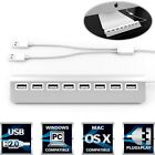 USB 2.0 Hub Mac Windows 8 Port Aluminum PC iMac Computer 30