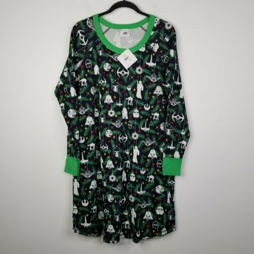 Details about  /Hanna Andersson Star Wars Holiday Christmas Nightgown Pajamas XL Black NEW