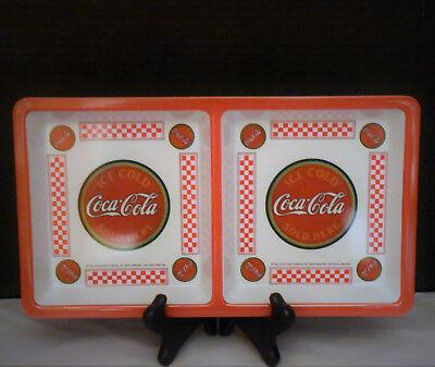 """Coca Cola COKE Melamine Divided Plastic Tray 12/"""" x 6.75/"""" NEW"""