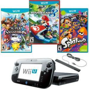 Scale 1//12 splatoon Miniature Boxing consoles WiiU Mariokart 8