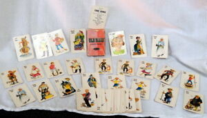 VINTAGE-1950-OLD-MAID-CARD-GAME-CHILDREN-WHITMAN-COMPLETE-INSTRUCTIONS-USA