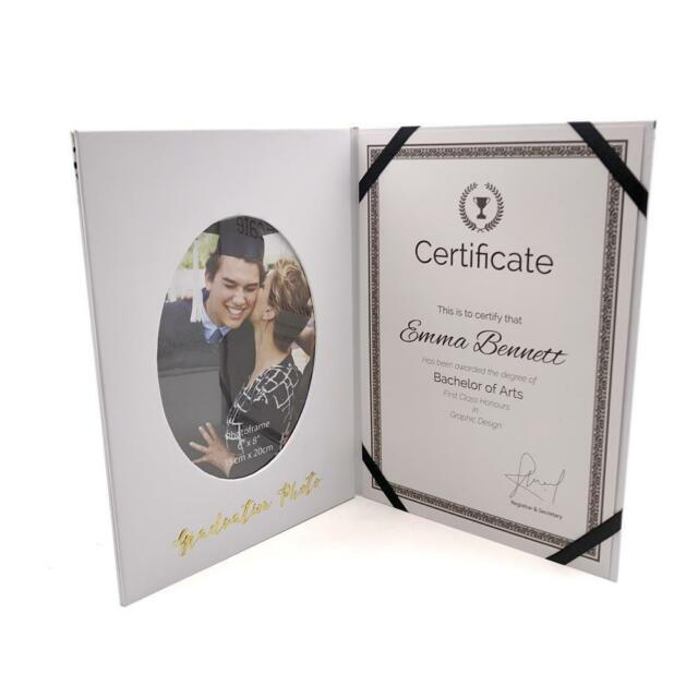 Personalised Graduation Photo Frame Gift With Certificate Holder FL331-P