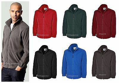 Uneek Mens Womens Unisex Premium Full Zip Micro Fleece Anti Pill Jacket Uc601