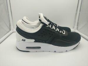 more photos e0869 81c61 Details about Nike Air Max Zero Premium UK 6 Black Black White 881982-003
