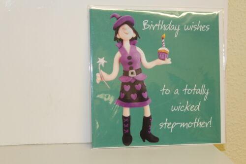humour-step-mother-carte vierge = Qualité carte /& enveloppe