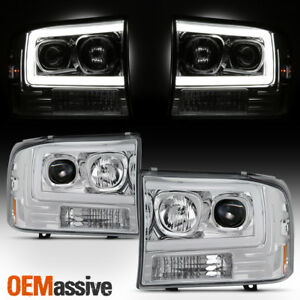 For 99 04 Ford F250 Super Duty 00 04 Ford Excursion Light Projector Headlights Ebay