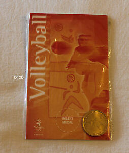 Volleyball / Beach Sydney 2000 Olympic Games Shell Commemorative Medallion New
