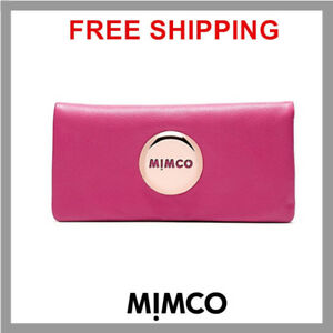 MIMCO-Schiaparelli-Pink-Rose-gold-badge-MIM-FOLD-Wallet-BNWT-GENUINE-RRP149-DF