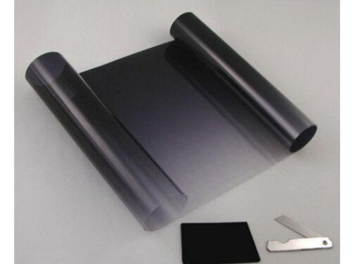 20cm X 150cm BLACK SUN VISOR TINT FILM STRIP KIT CAR VAN WINDSCREEN UV SHADE New