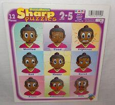 Emotions Tray Puzzle PuzzlePatch  12 Pc  1999 U.S.A 1150 Angry Happy Sad Borad