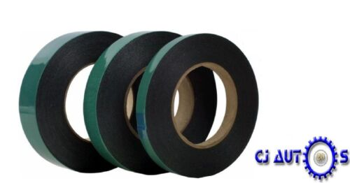 50mm Double Sided Foam Black Number Plate Tape Waterproof Sticky Strong Adhesive