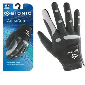 Bionic-Golf-Glove-AquaGrip-Mens-Right-Hand-Black-Wet-Weather-Large