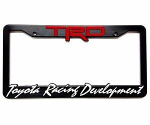 Tundra Toyota Racing Development TRD Plastic License Plate Frame TWO