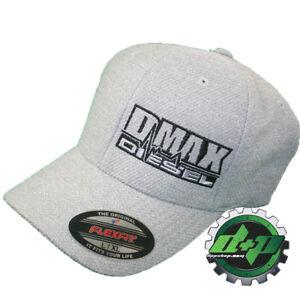 b025c501929 L  XL Black FLEXFIT FITTED ford powerstroke trucker ball cap hat diesel  flex fit