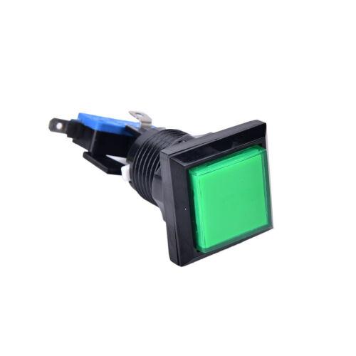 1X 33mm square game machine push button arcade LED illuminated push button XBUK