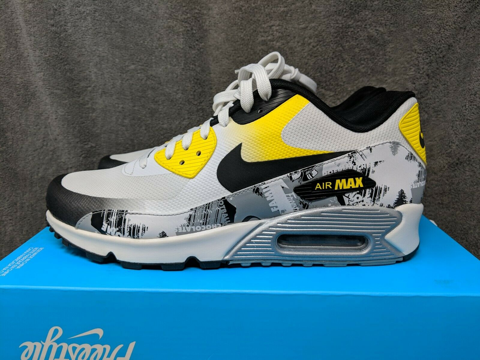 Nike Air Max 90 Premium DB (AH6830-100) White Black Brand New Mens Size 8.5