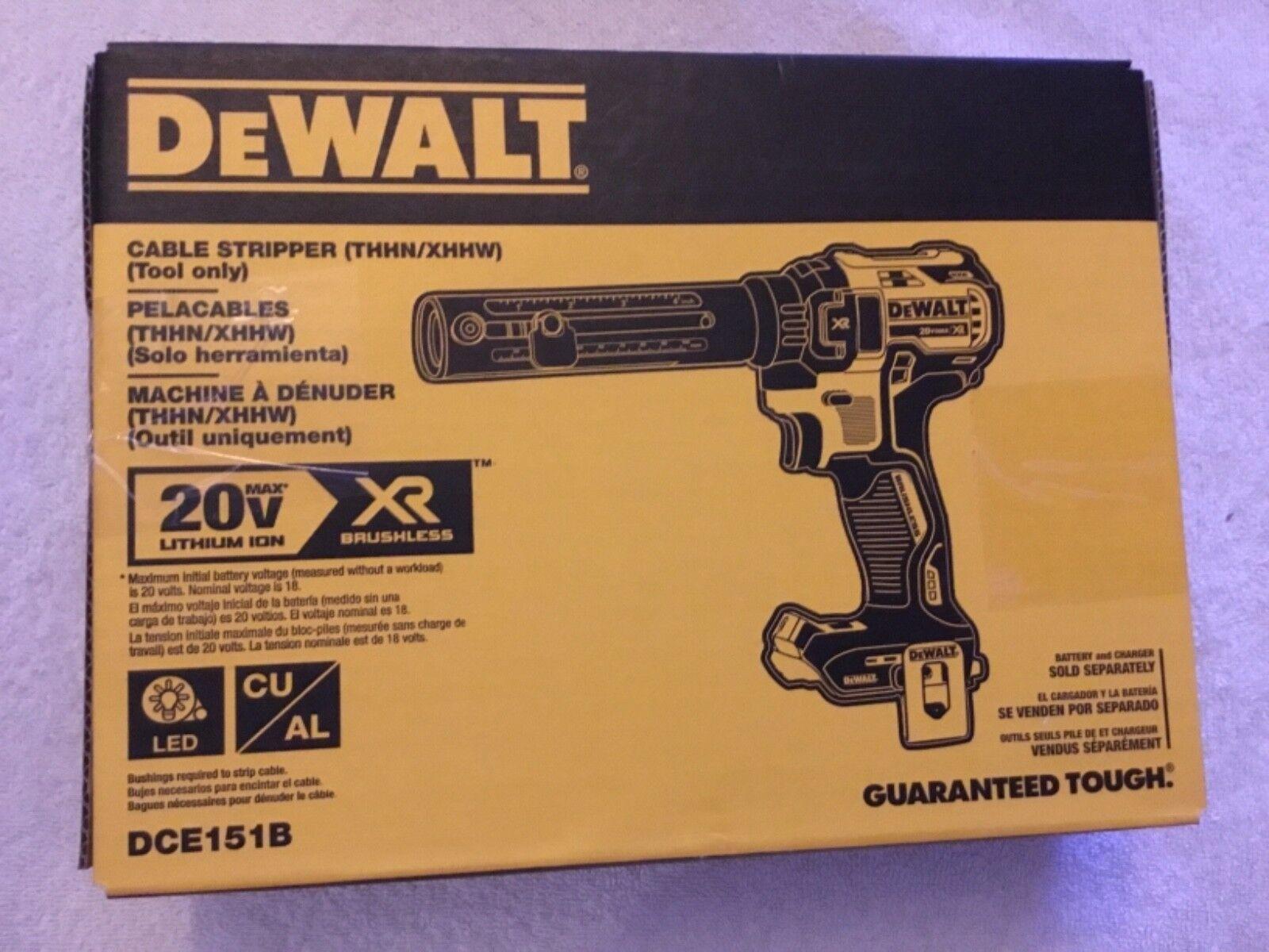 New Dewalt DCE151B 20V 20 Volt Max XR Cordless Brushless Cable Stripper (NIB)