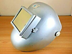 Vintage-Welding-Silver-Mask-Helmet-Sellstrom-Safeguards-Soldering-USA-Made