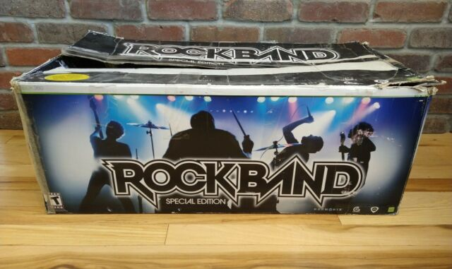 Microsoft XBOX 360 Rock Band Special Edition Bundle Complete Set. TESTED