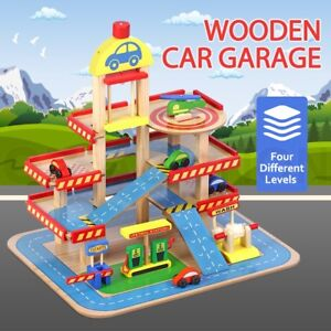 Wooden Car Garage Toy Car Park Car Ramp Car Parking