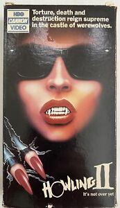 HOWLING-II-oop-VHS-tape-HORROR-werewolf-2-christopher-LEE-sybil-DANNING