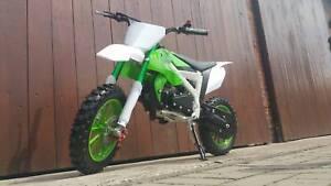 RV-Racing Pocketbike Dirtbike Pocket Rennbike Minibike 49ccm Kindermotorrad Grün