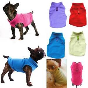 Pet-Kleidung-Kleine-Warm-Hundemantel-Hundefleece-Weste-Pullover-Mantel-Jacke-Neu
