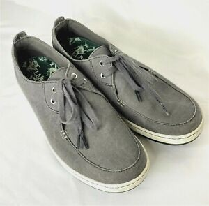 LL-Bean-Campside-Oxford-Shoes-Mens-Gray-Size-13-Medium-2-Eye-Canvas