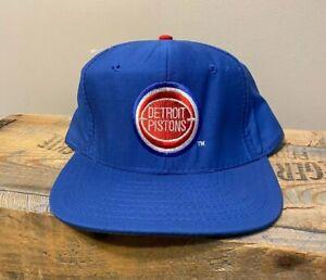 Vintage Detroit Pistons Snapback Hat U I I Pro Star Plain Logo Hat Cap Deadstock Ebay