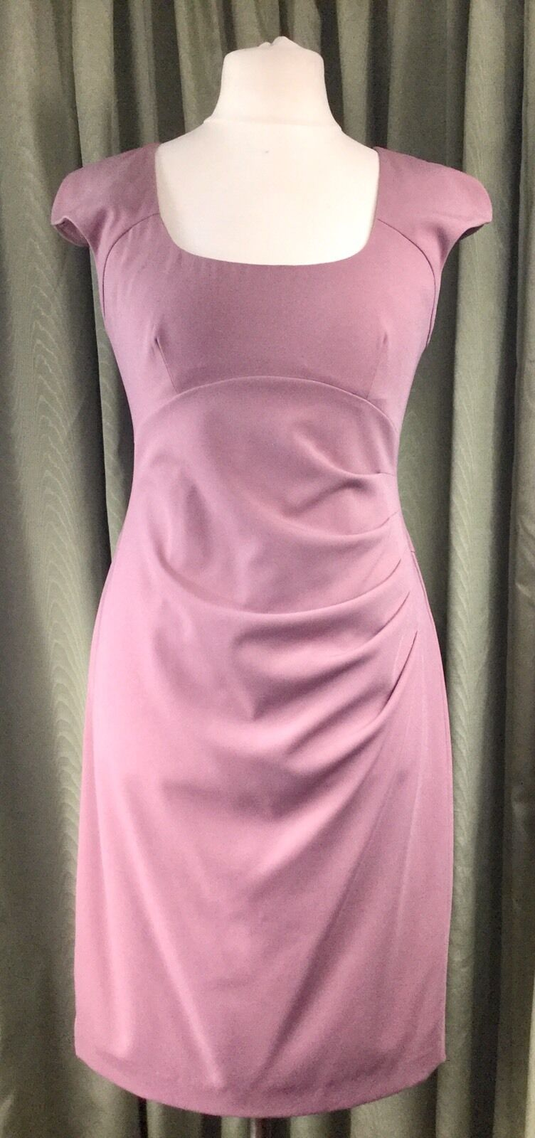 LK Bennett Bennett Bennett Dusky pink Pencil Wiggle Dress UK12 EU40 Rare d28950