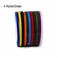 4 Rolls Vinyl Pinstriping Tape 13 Osha Colors Available 1/4inch X 108ft 5mil