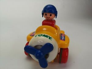 Tomy-baby-toy-push-and-go-plane-vintage-toy-1991-Works-Perfectly-A45