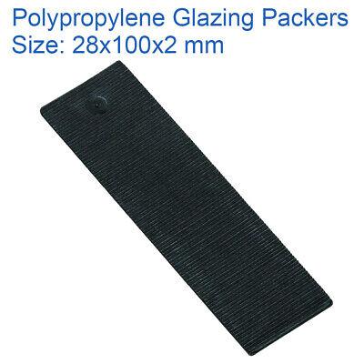 Box of 1000 Endurance Flat Glazing Packers 40mm x 100mm x 2mm Black