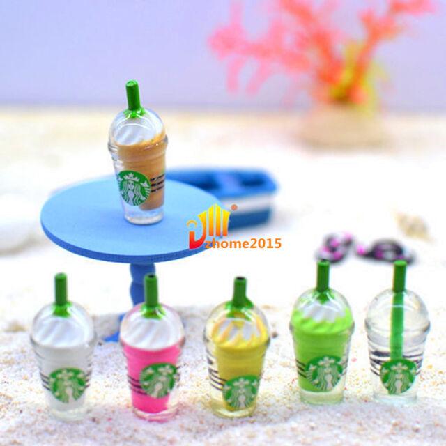 2X Miniature Dollhouse Coffee Cup Kitchen Room Food Drink Decor Mini World `