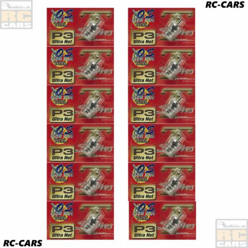 12x OS Glühkerze P3 Turbo Ultra Hot Motor Racing 1//8 Off Road Nitro Buggy