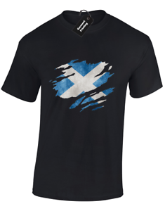 SCOTLAND T-SHIRTS SCOTTISH FLAG DESIGN FOOTBALL RUGBY FAN GIFT IDEA S 5XL