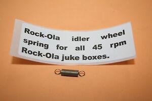 Rock-Ola juke jukebox turntable idler wheel spring. HARD TO FIND!  BRAND NEW!