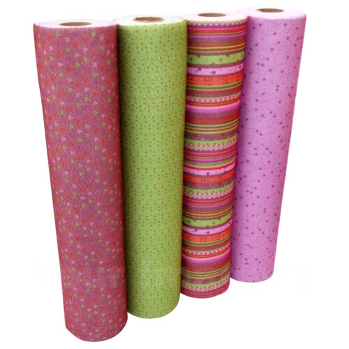4 Colours Dusky Pink//Burgundy /& Green Designs Per Half Metre Design Craft Felt